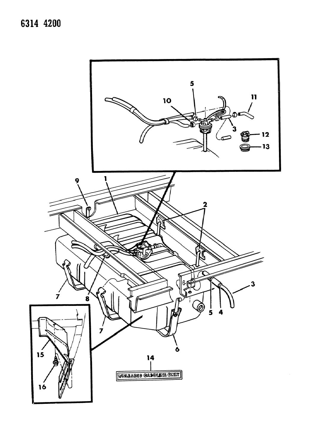 1986 Dodge Ram Van Fuel Tank Mopar Parts Giant Line Diagram Thumbnail 2