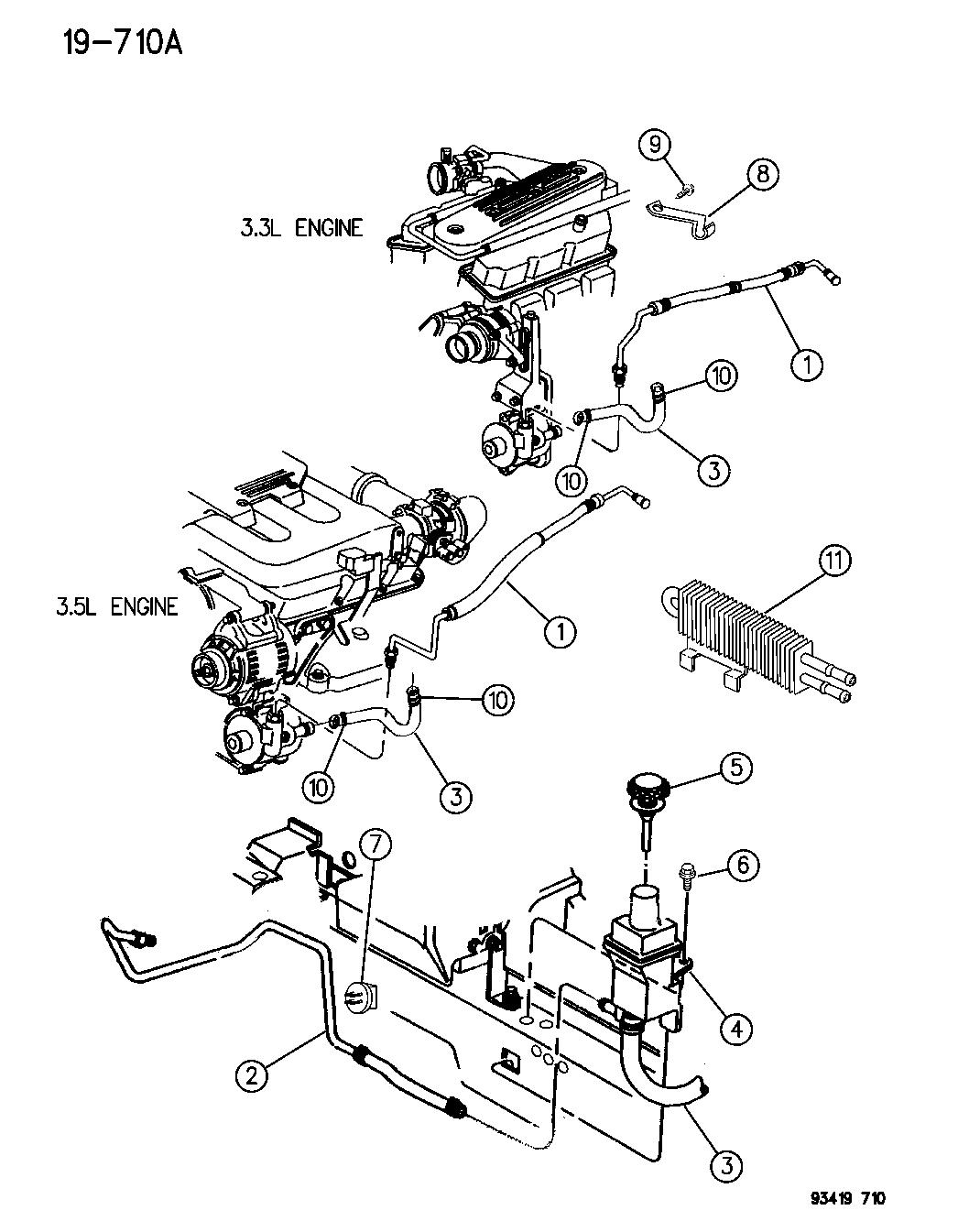 1994 Chrysler Concorde Power Steering Hoses - Mopar Parts GiantMopar Parts Giant