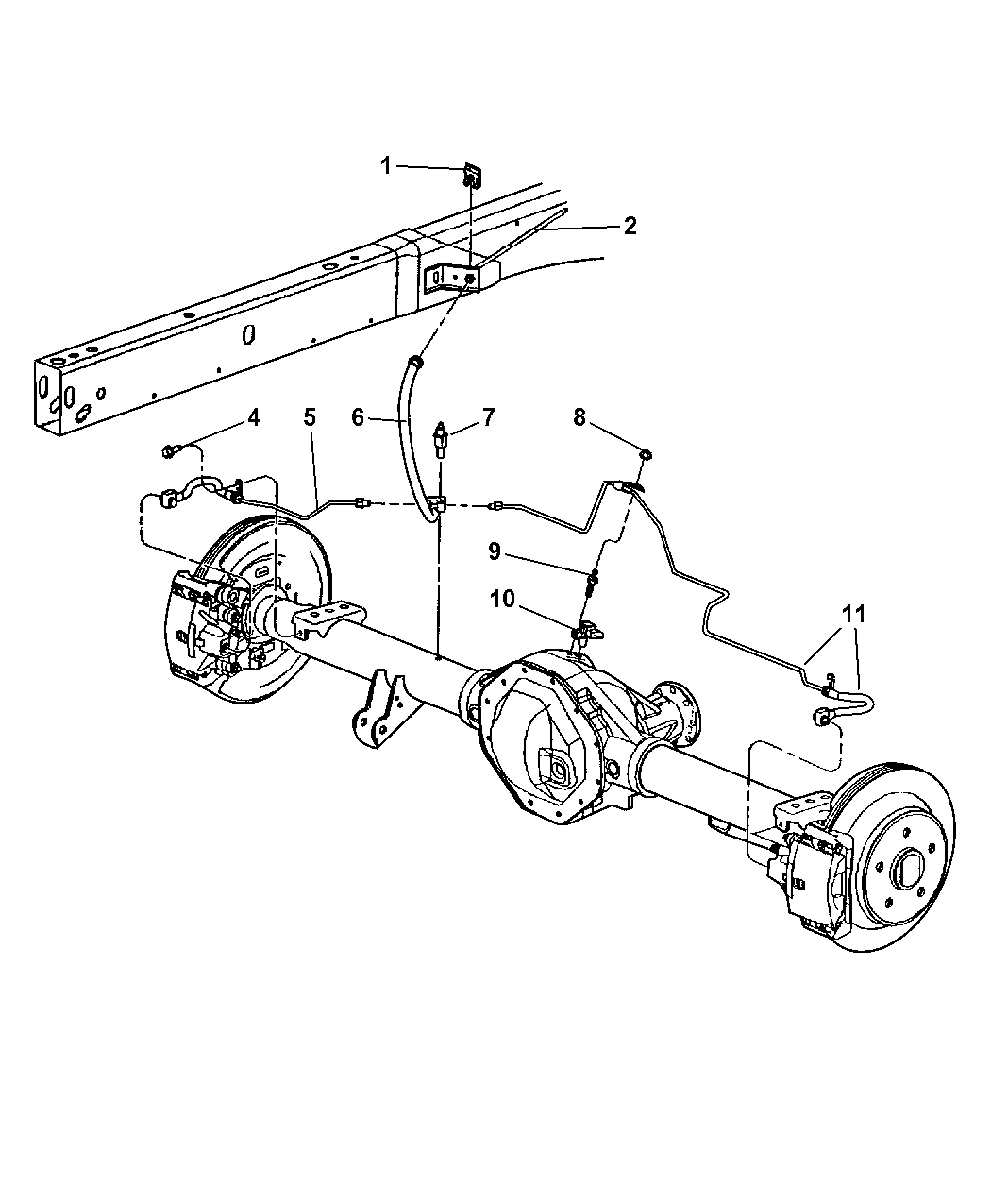 Dodge Dakota Brake System Diagram : Dodge ram lines hoses brake rear