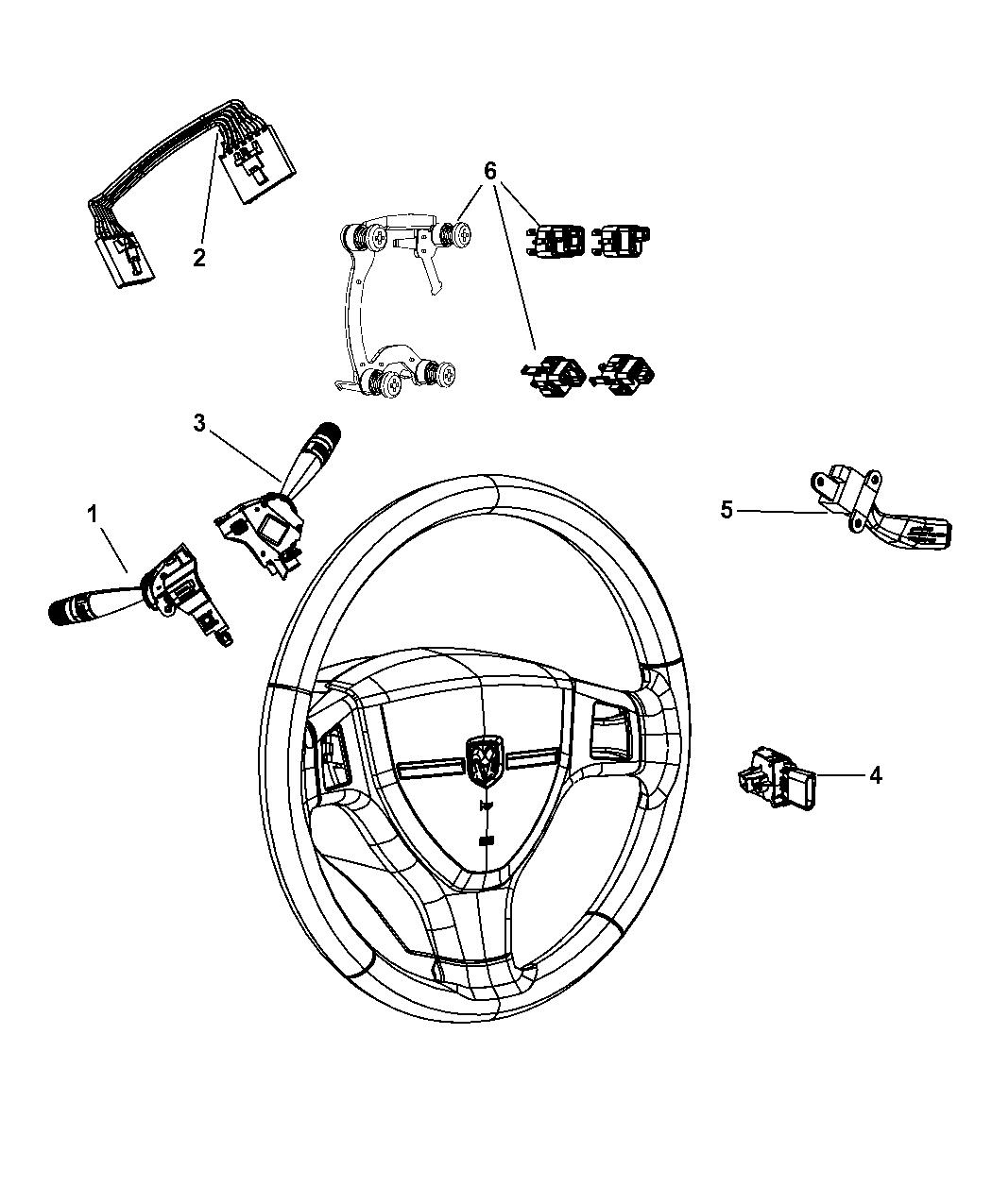 2010 Jeep Wrangler Switches Steering Column Wheel Wiring Schematic