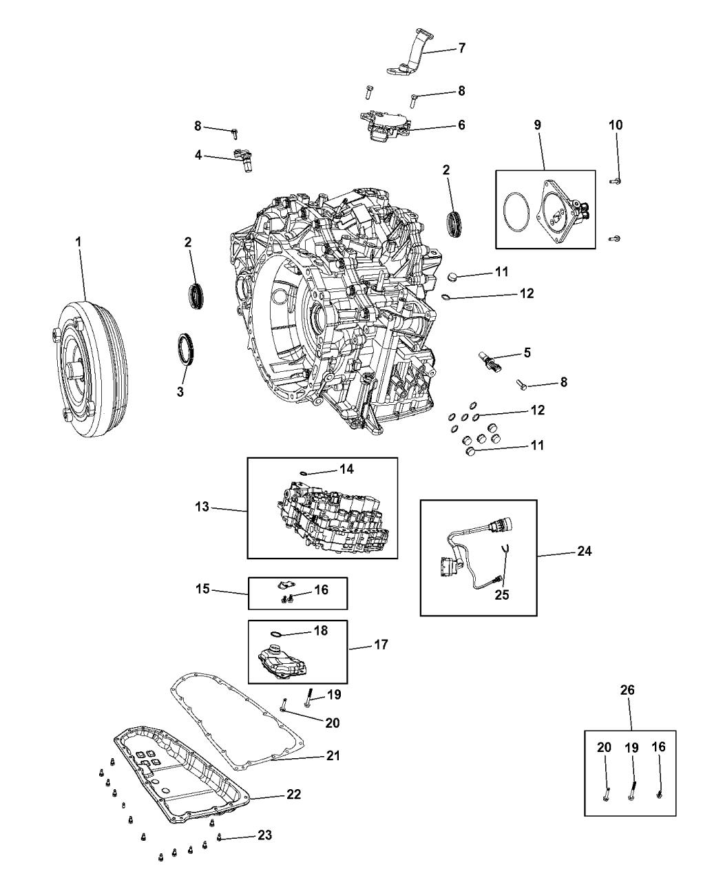 2012 Jeep Patriot Transmission Serviceable Parts Automatic Diagram Transaxle Thumbnail 1