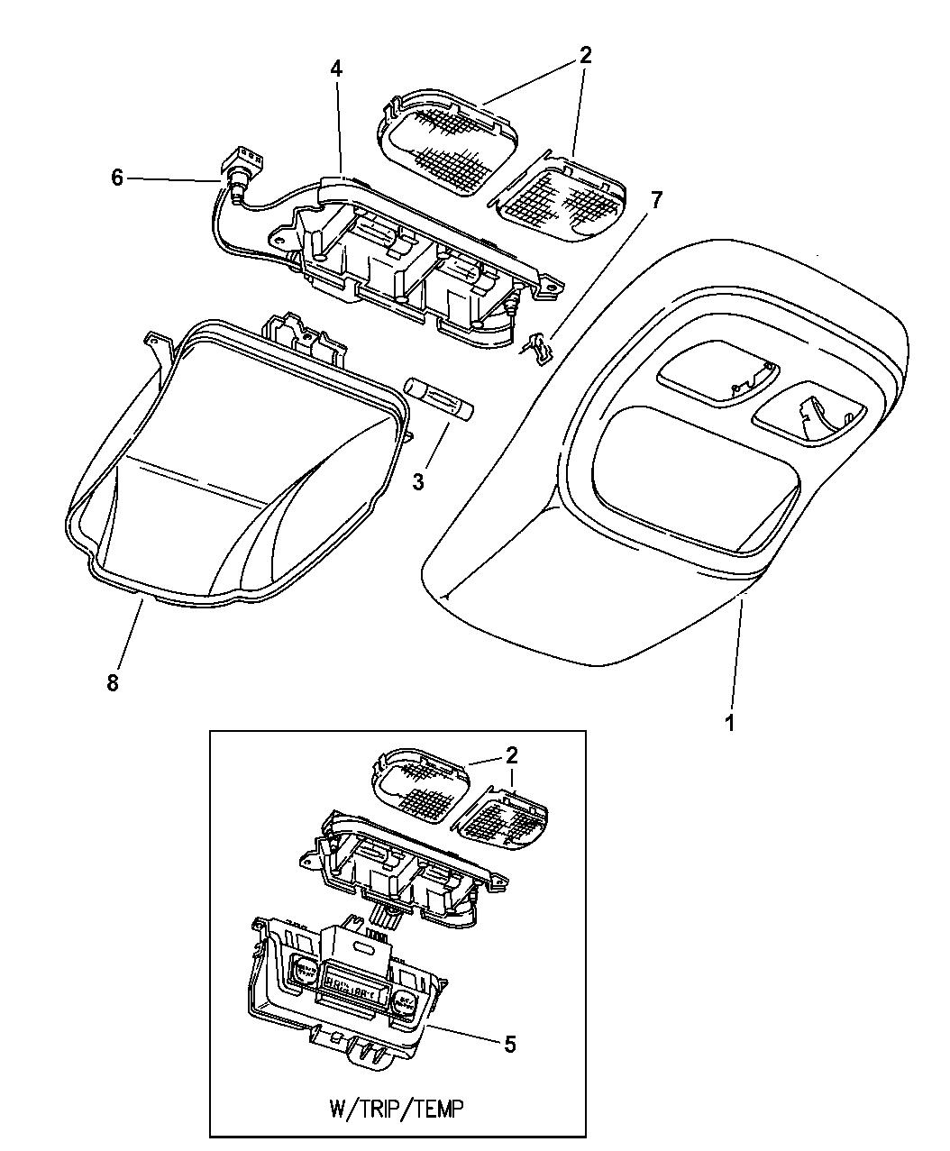 1997 Dodge Ram 1500 Overhead Console