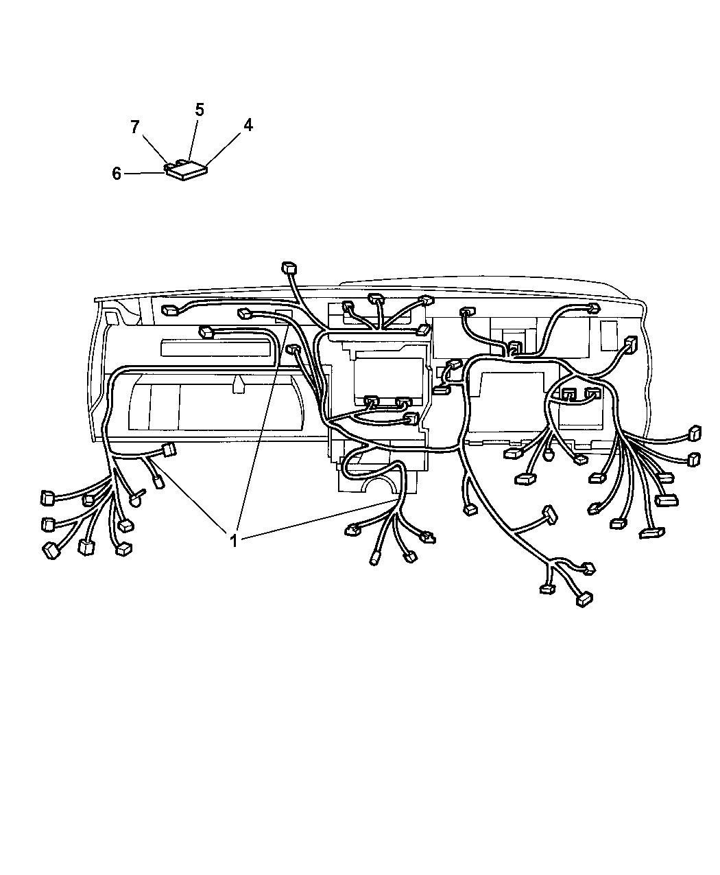 56050050ad Genuine Jeep Wiring Instrument Panel