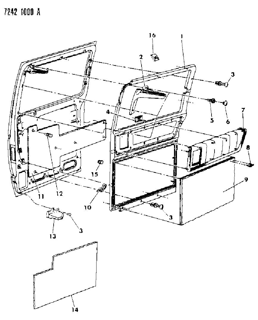 6501301 Genuine Mopar Fastener Sliding Door Int Panel