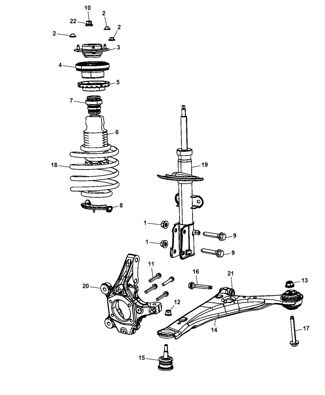 4721547AC  Genuine Mopar MOUNTSTRUT