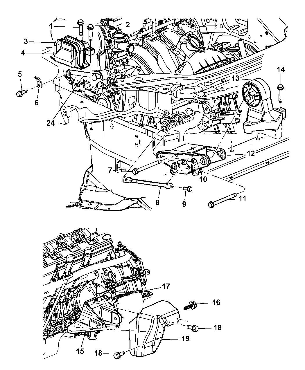 4578019AC - Genuine Mopar SUPPORT-ENGINE SUPPORTMopar Parts Giant