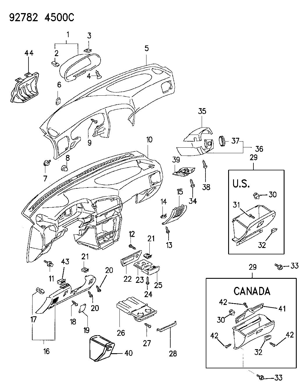 1993 Dodge Colt Instrument Panel - Thumbnail 3