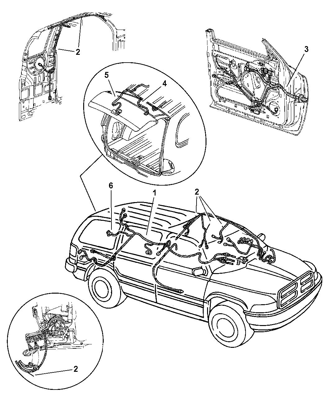 1999 Dodge Durango Wiring Body Accessories
