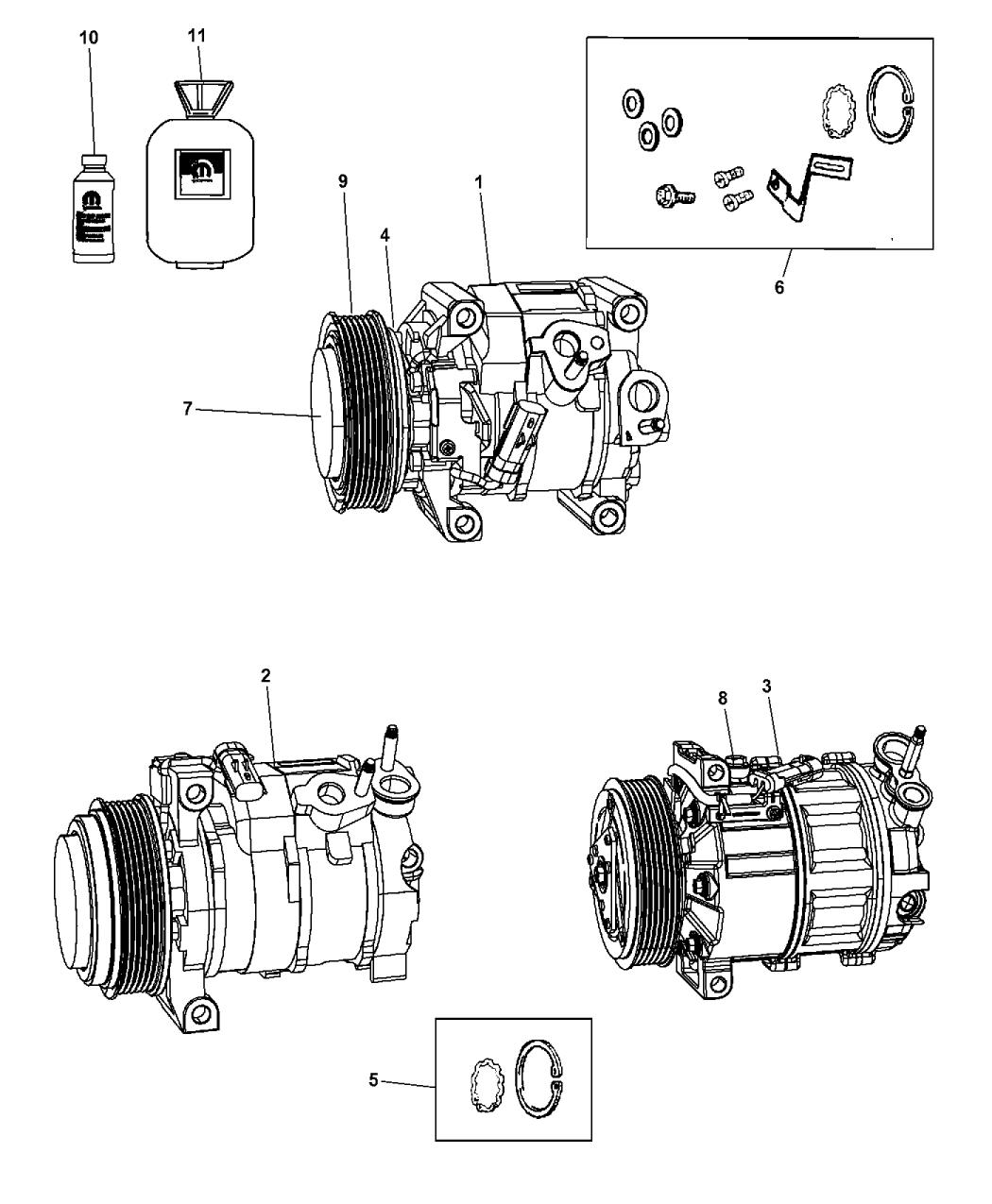 2013 Dodge Journey A/C Compressor - Mopar Parts Giant