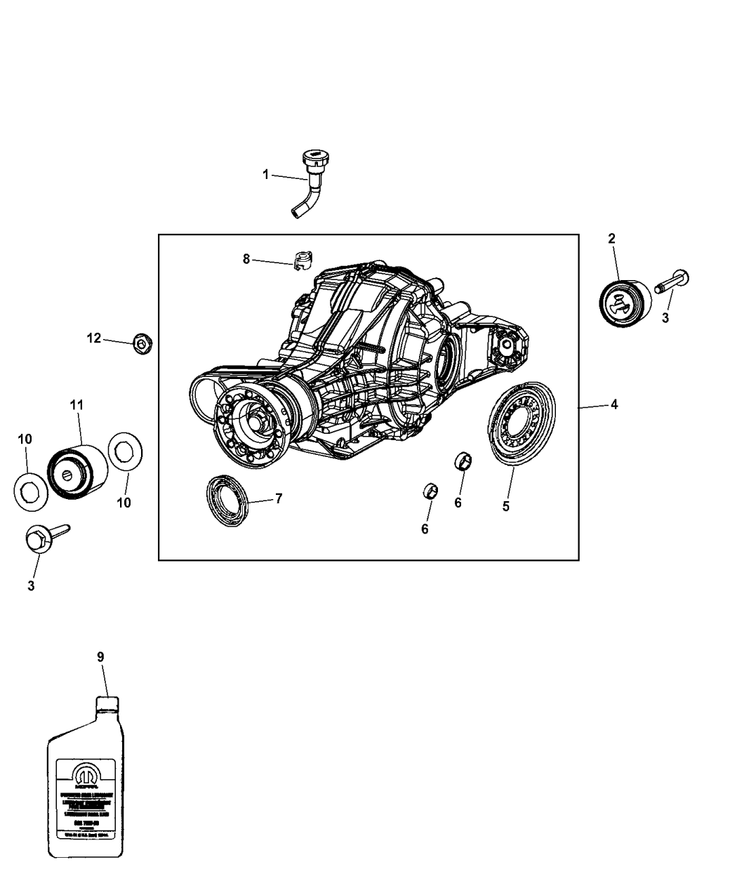 2011 Jeep Grand Cherokee Axle Assembly Components Differential Diagram Thumbnail 2