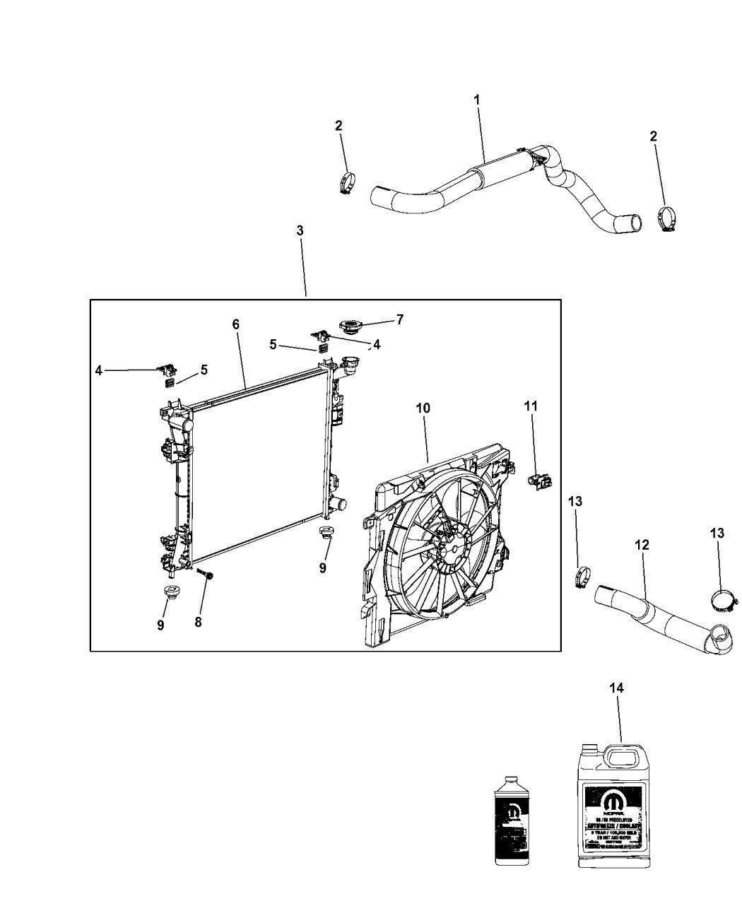 4677755AE - Genuine Mopar RADIATOR-ENGINE COOLING