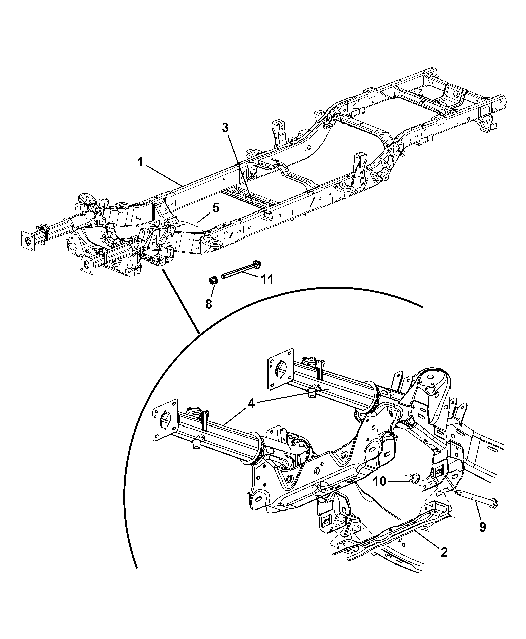 Genuine Mopar RAIL-FRONT