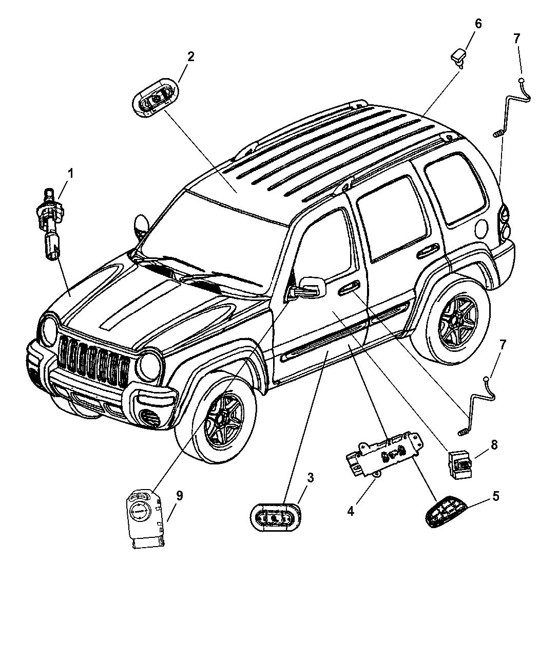 56010695AA  Genuine    Jeep    SWITCHDOOR LOCK