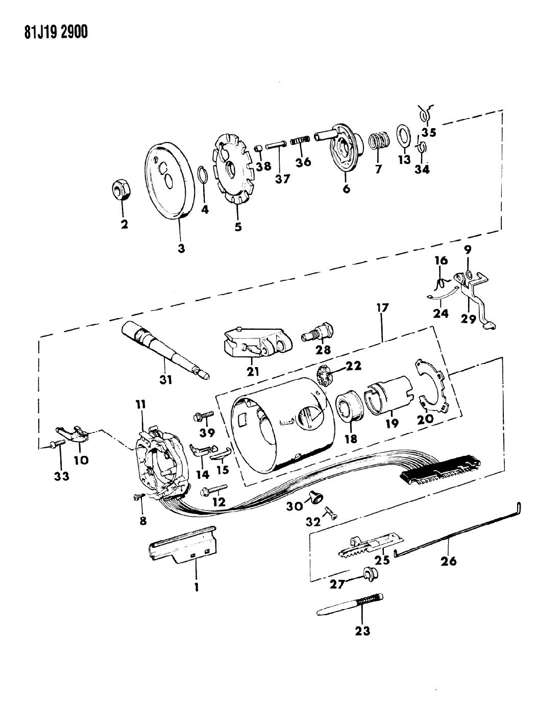 1985 Jeep J20 Housing - Steering Column Upper - Mopar Parts