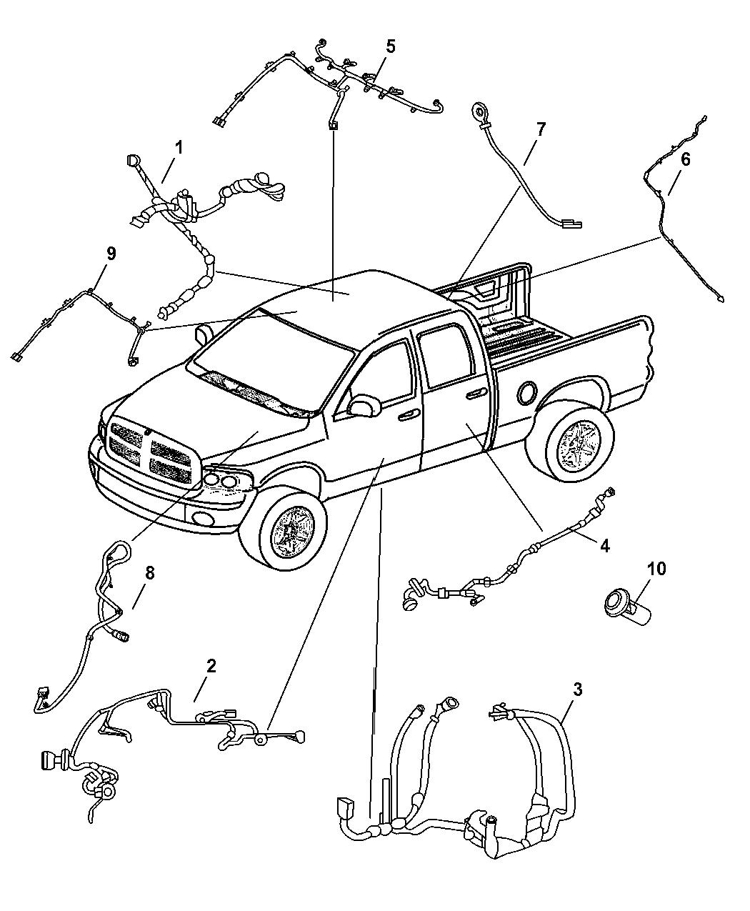 56051391AC - Genuine Dodge WIRING-BODY