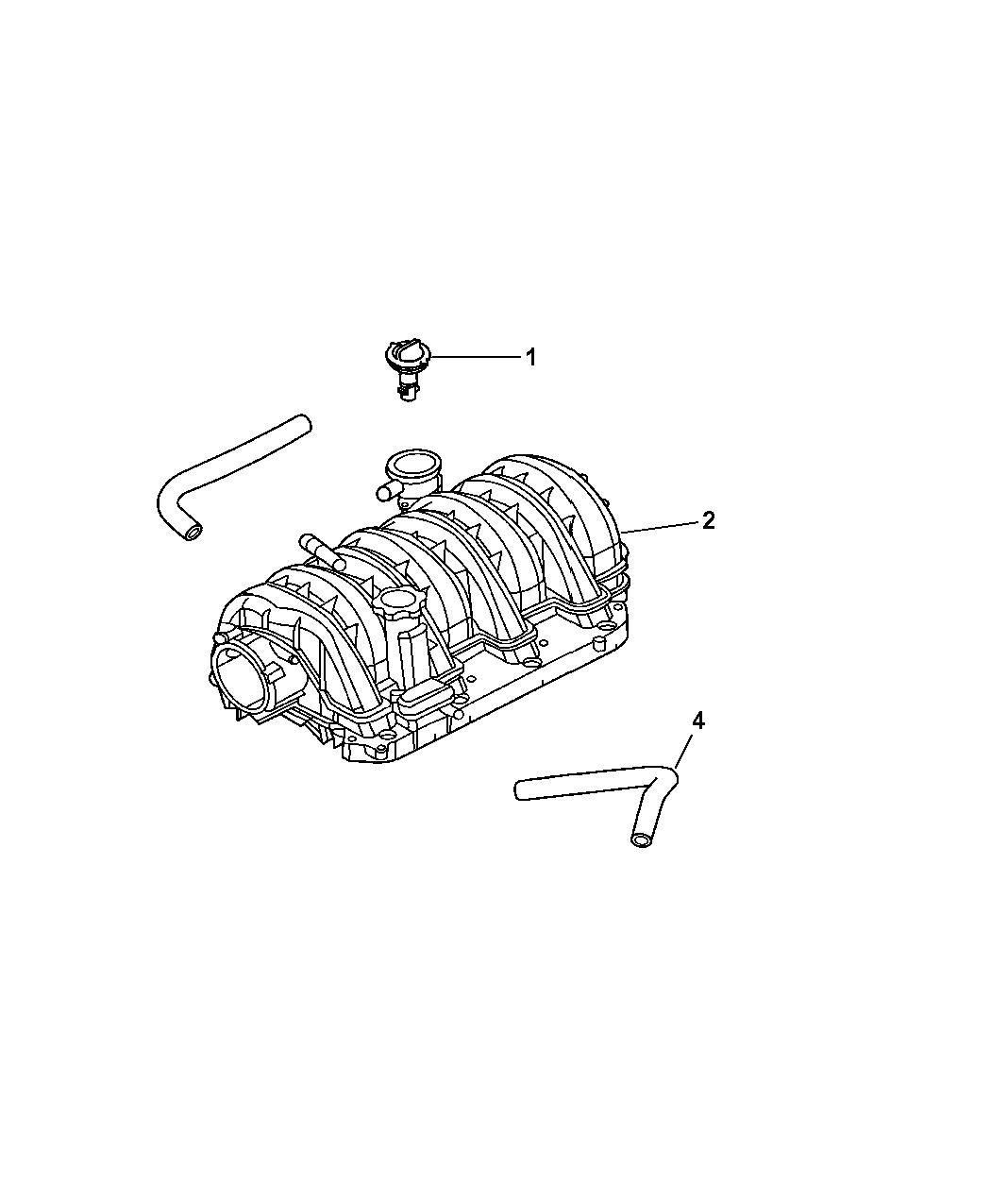 2005 Jeep Grand Cherokee Crankcase Ventilation Engine Diagram Thumbnail 1