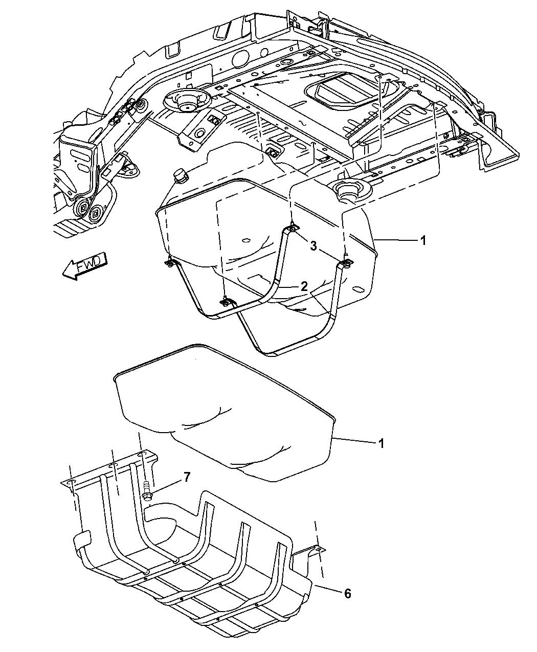 2003 Jeep Liberty Fuel Tank