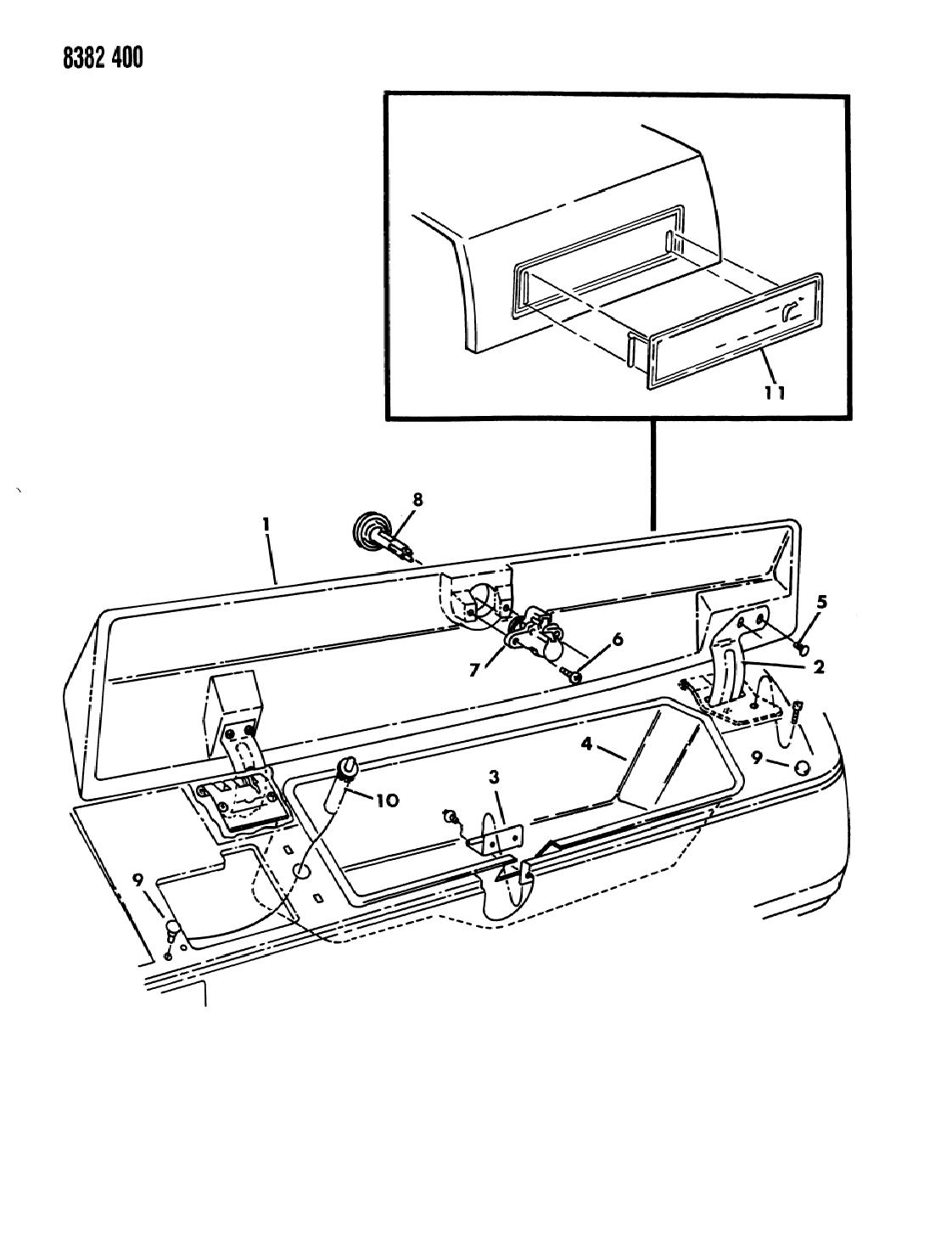 1989 Dodge Ram Van Instrument Panel Gbox - Mopar Parts Giant on
