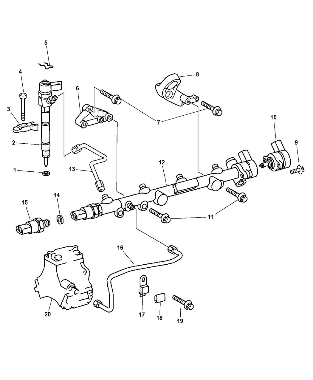 2003 Chrysler PT Cruiser Fuel Rail - Thumbnail 2