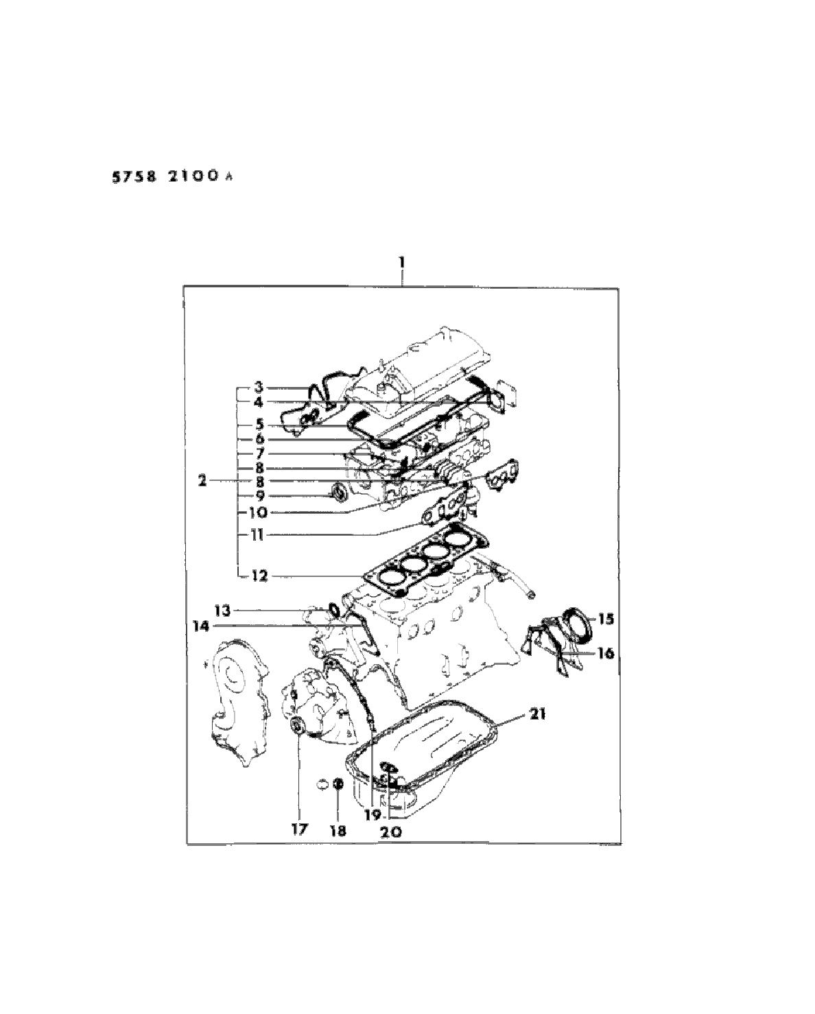 1985 dodge ram 50 engine gasket sets - thumbnail 1