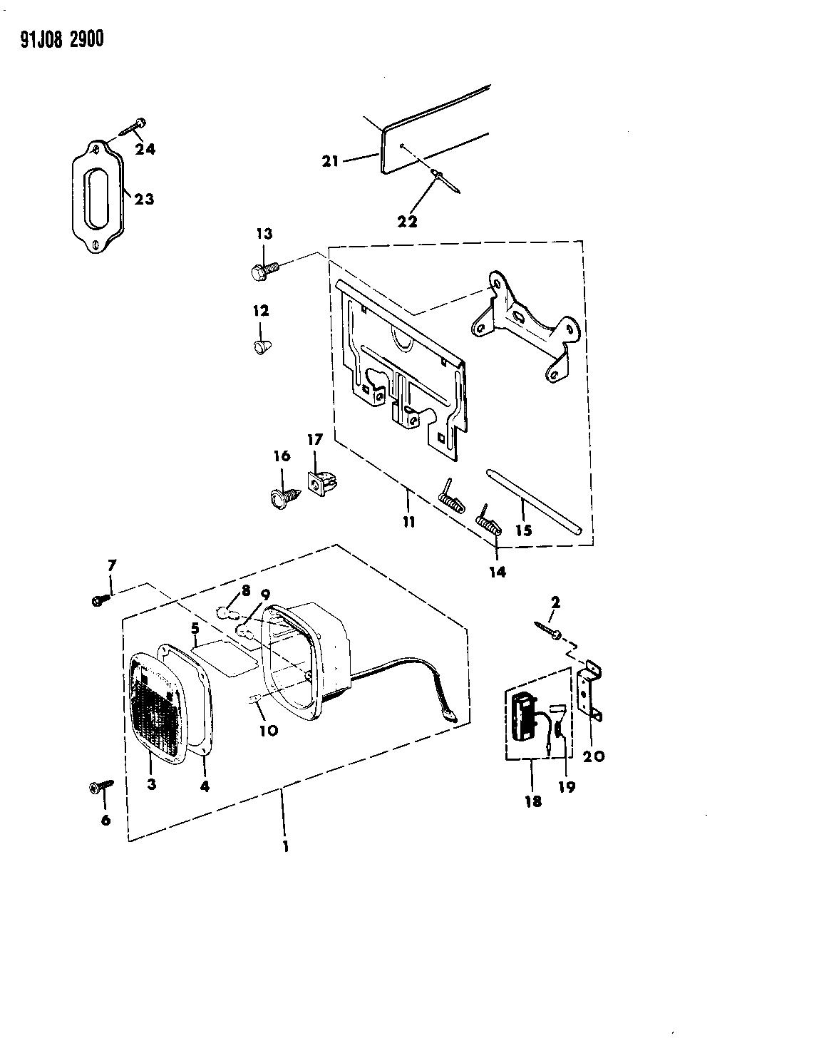 1993 Jeep Wrangler Lamps Rear Mopar Parts Giant
