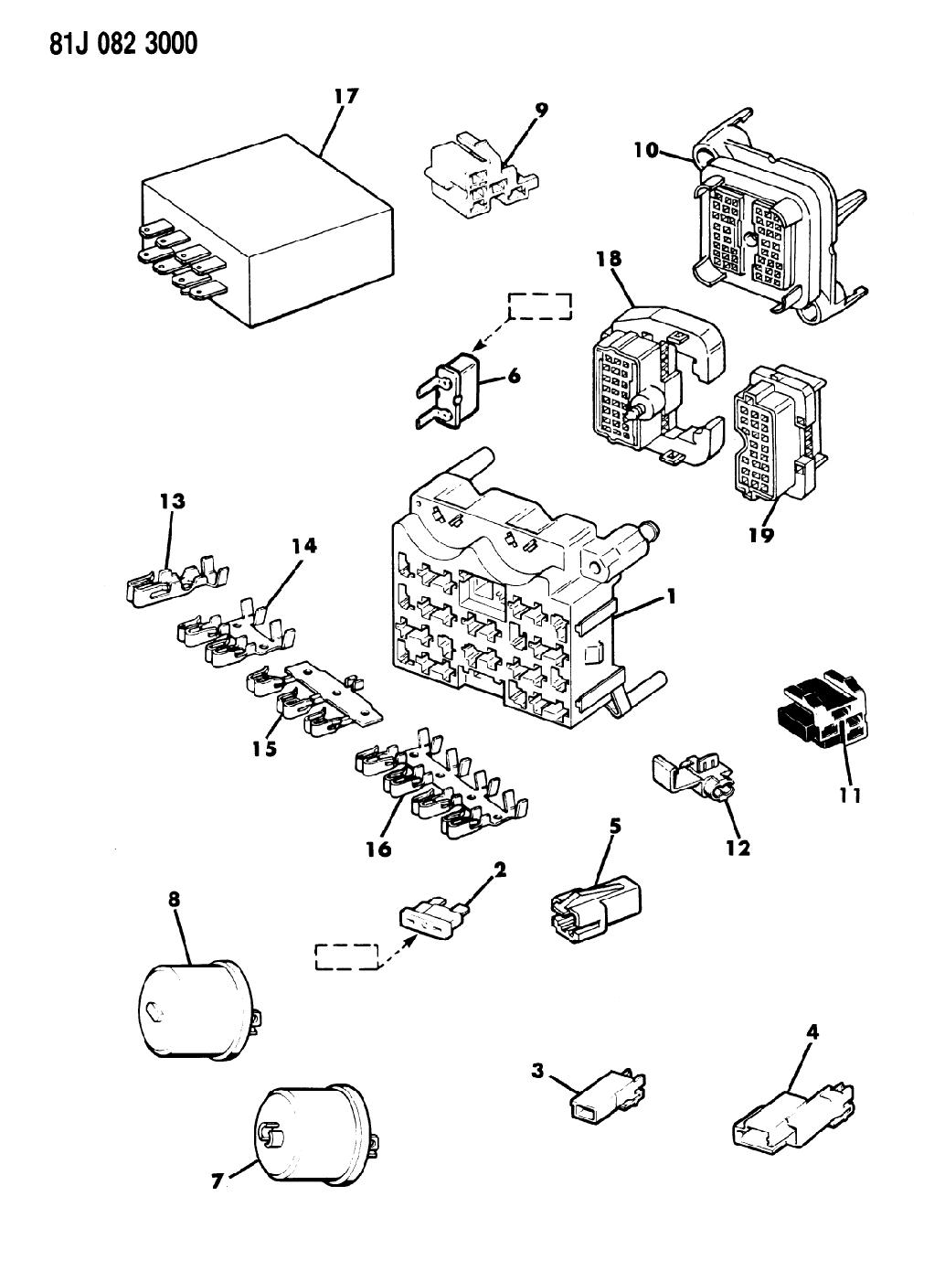 84 jeep wagoneer fuse box