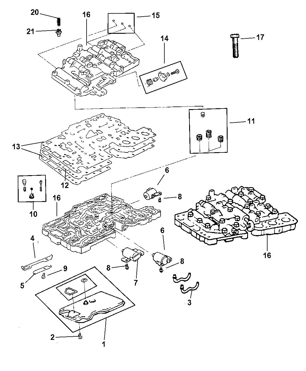 5016121aa Genuine Mopar Solenoid Transmission