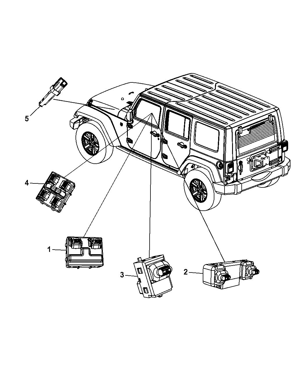 4602756AB - Genuine Mopar SWITCH-5 GANG