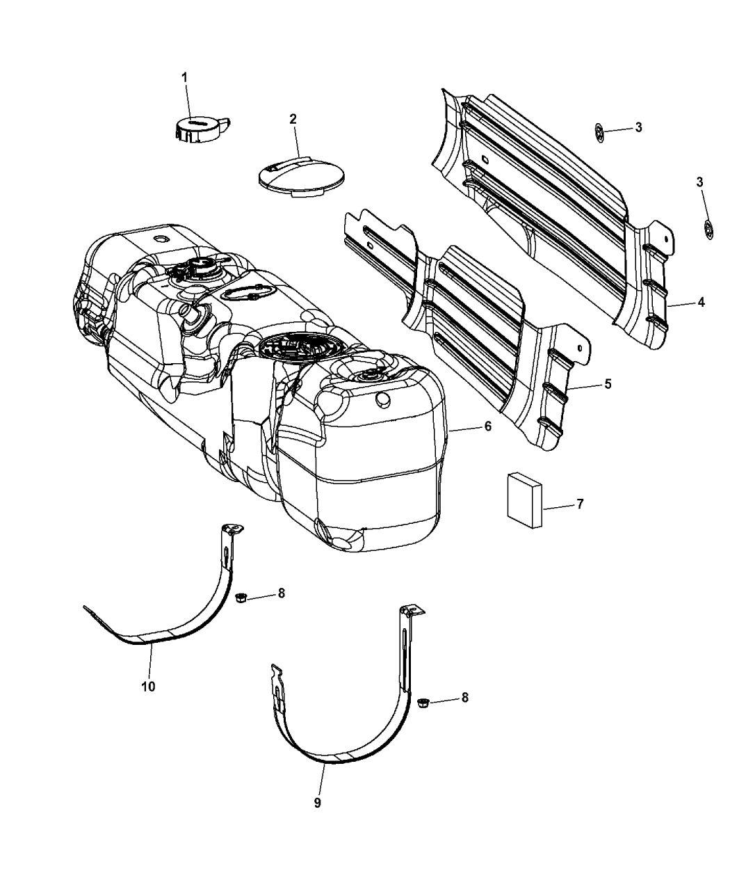 Genuine Mopar Tank Strap 52102527AB