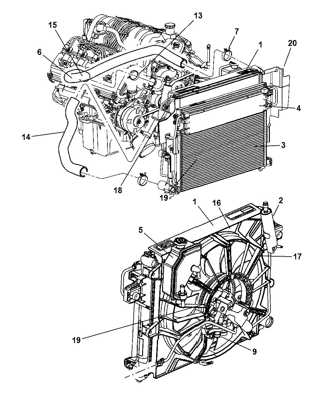 2007 Jeep Grand Cherokee Radiator U0026 Related Parts