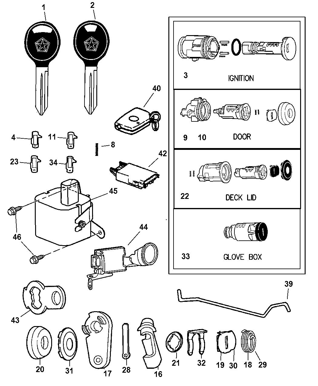 diagram of chrysler lock cyl diagram of chrysler a413