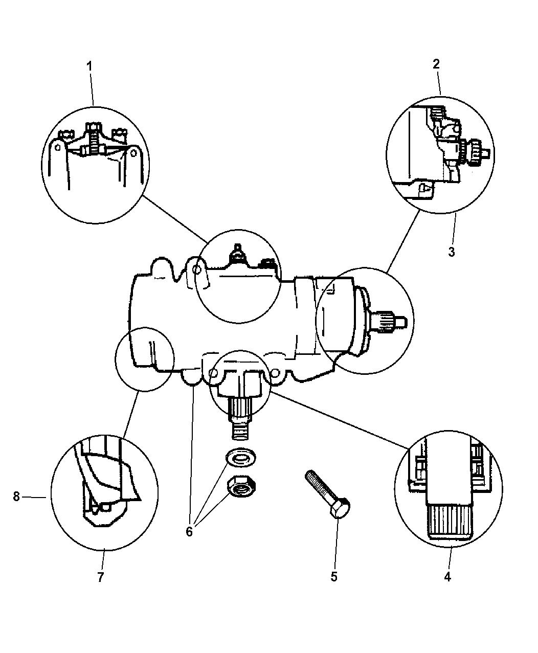 1997 dodge ram 3500 power steering gear