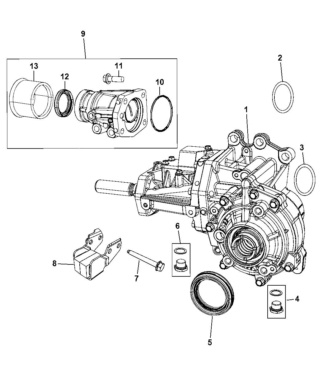 2008 Jeep Patriot Power Transfer Unit Assembly