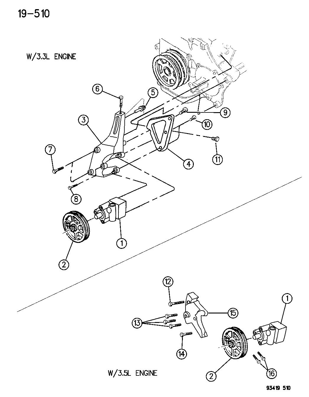chrysler 3 3l engine diagram
