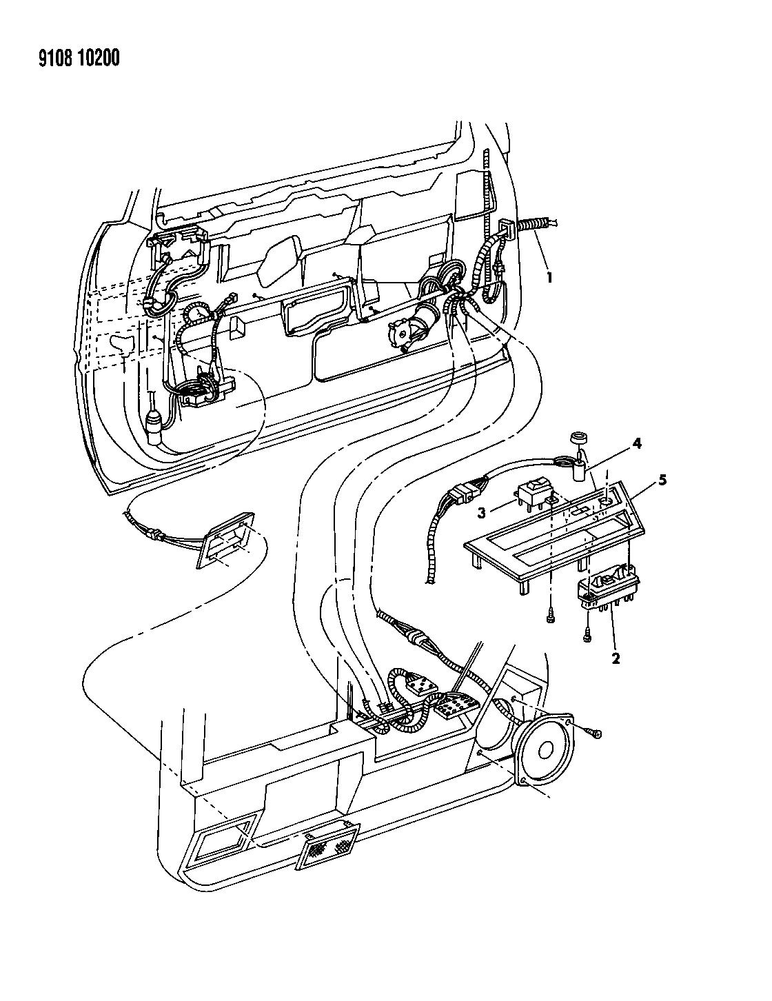 1989 Chrysler Lebaron Gtc Wiring Switches Front Door Diagram