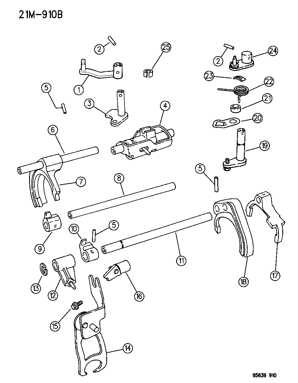 1995 Dodge Avenger Fork Rail Mopar Parts Giant Engine Diagram