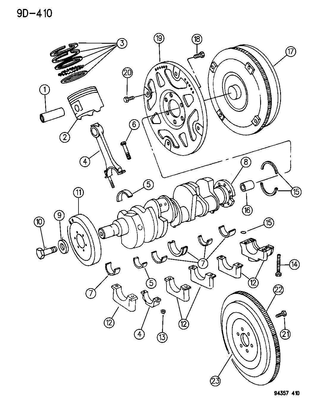 1995 Dodge Ram 1500 Crankshaft, Piston & Flywheel & Torque