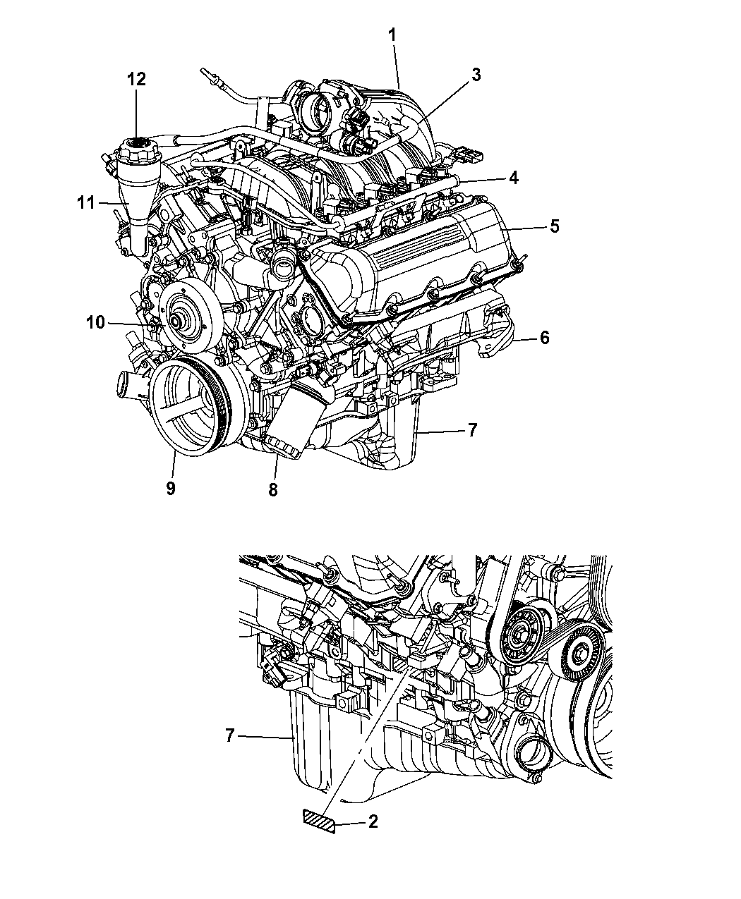 2007 jeep commander engine assembly and identification