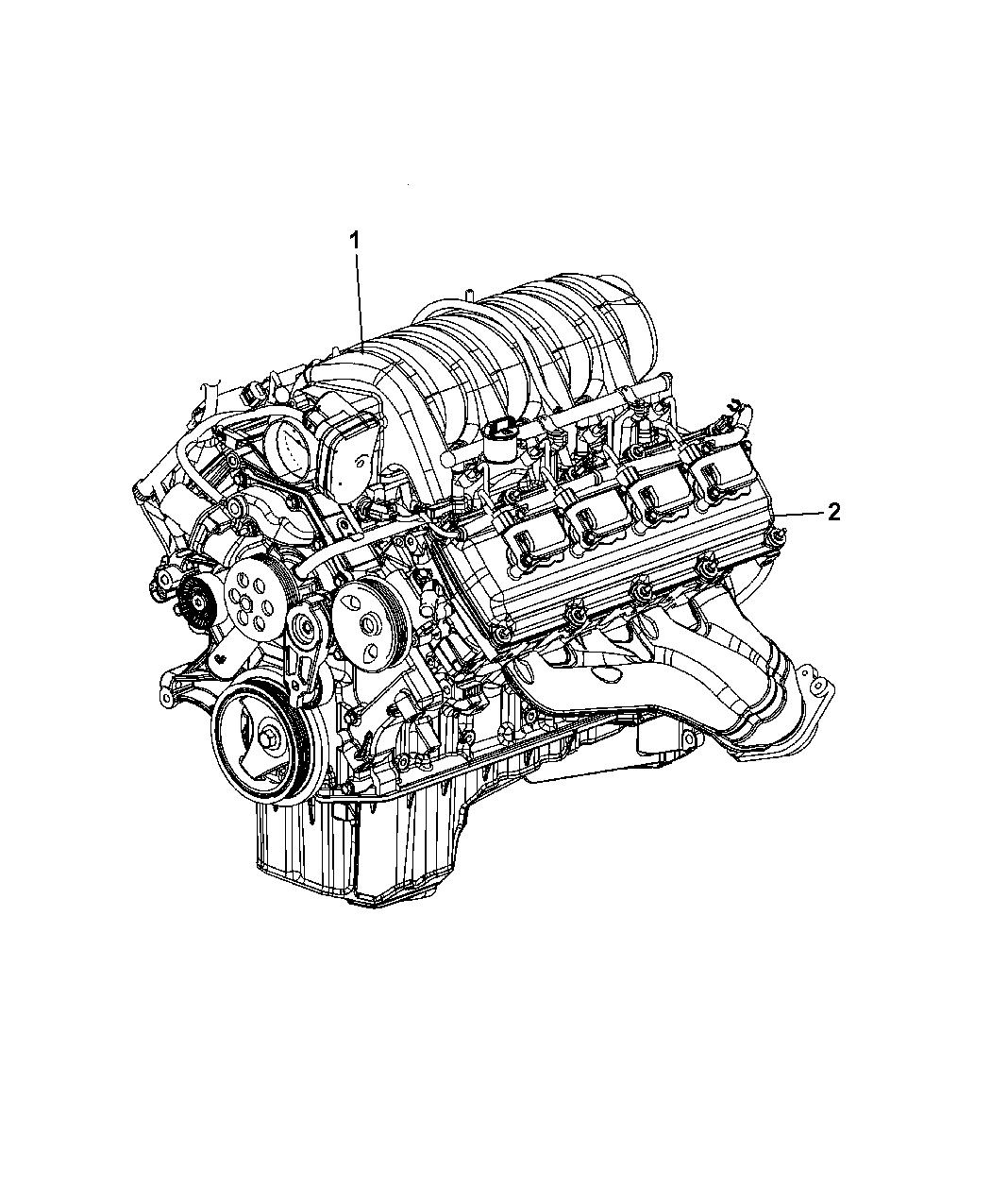 R8192996AA - Genuine Mopar ENGINE-LONG BLOCK