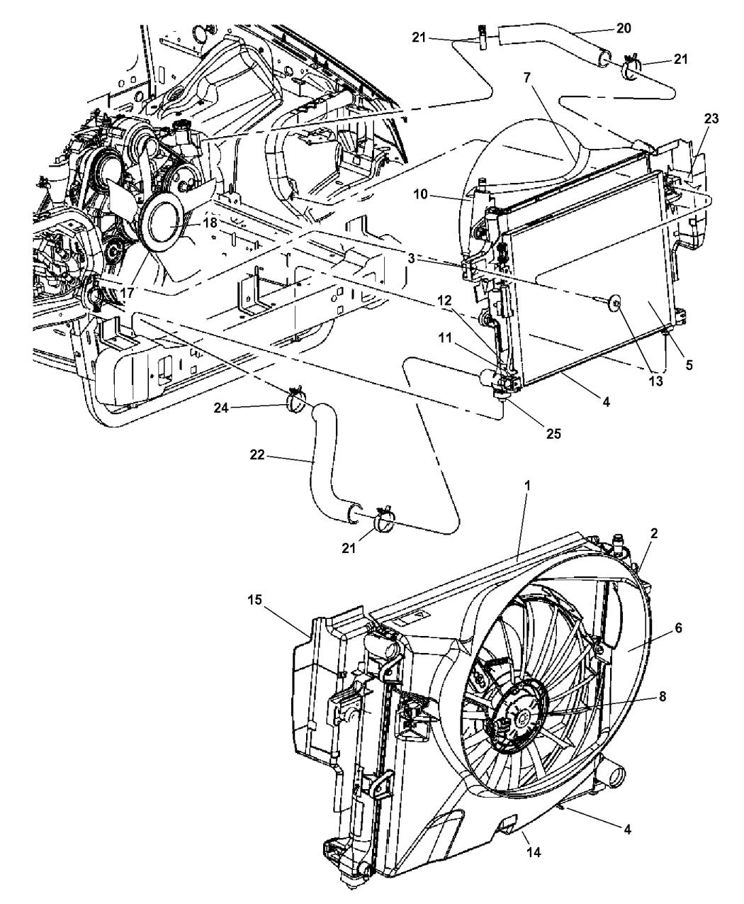55116884aa genuine mopar fan cooling. Black Bedroom Furniture Sets. Home Design Ideas