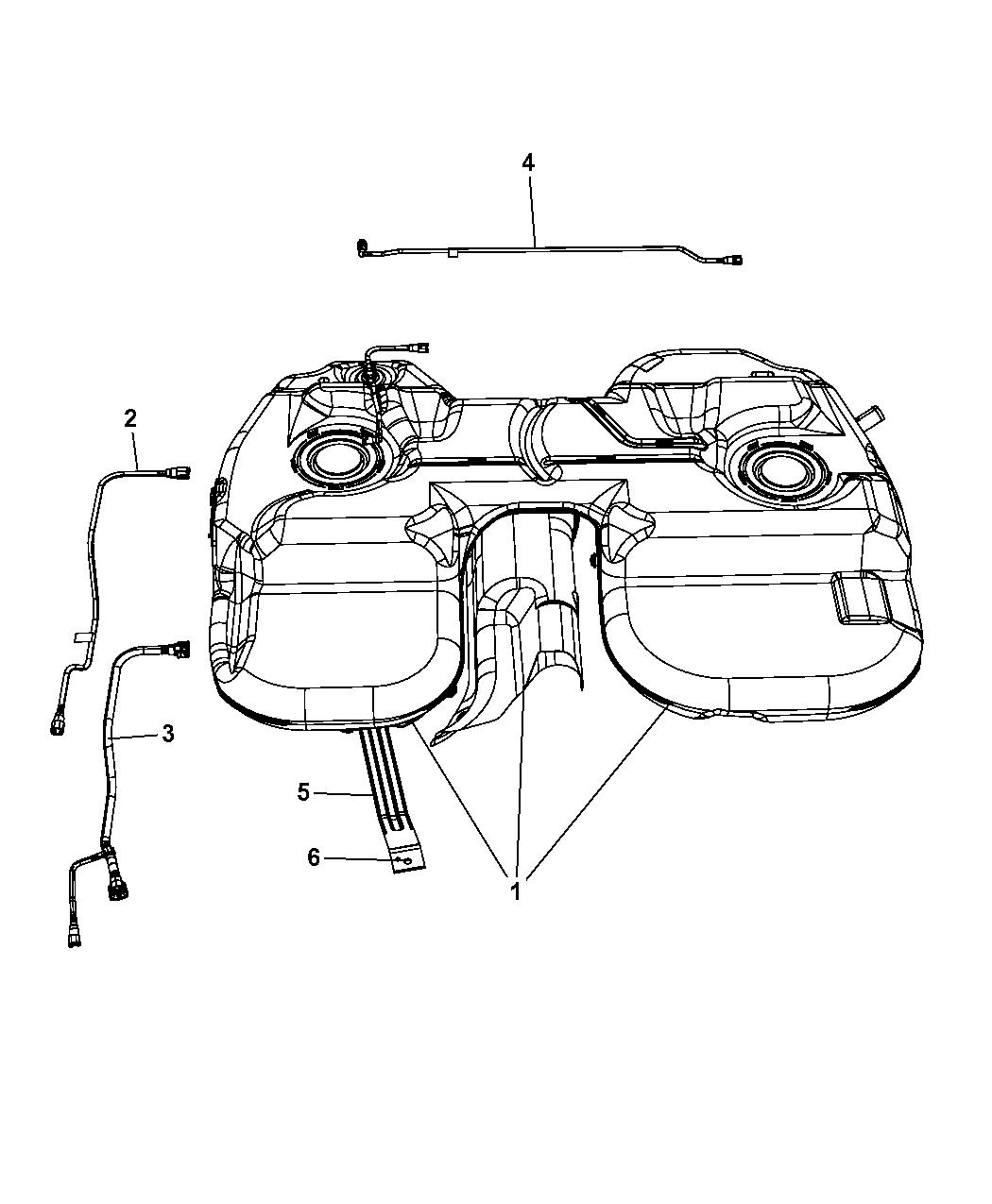 2007 chrysler pacifica fuel tank mopar parts giant rh moparpartsgiant com Fuel Injection System Diagram Automotive Fuel System Diagrams