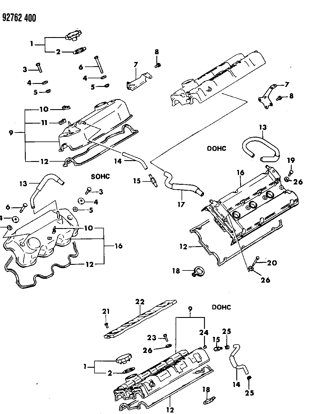 1994 Dodge Stealth Valve Covers