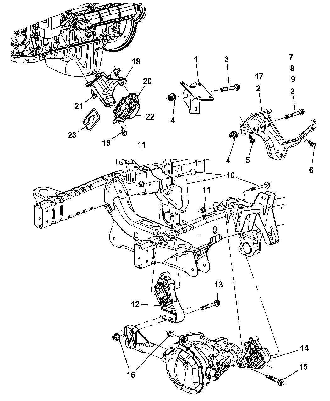 52110082AC - Genuine Mopar BRACKET-ENGINE MOUNT