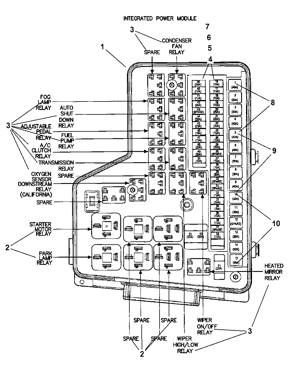 68005474aa genuine mopar block 2003 hummer h2 fuse diagram 2003 dodge ram 1500 power distribution center, fuses & relays