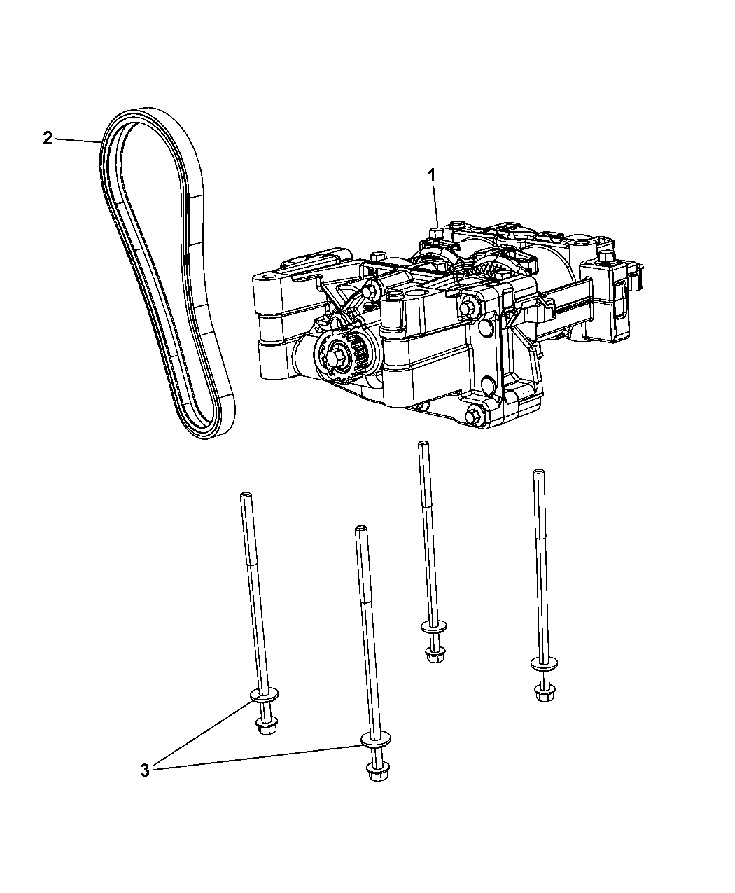 2013 Jeep Compass Balance Shaft Oil Pump Assembly Engine Diagram Thumbnail 2