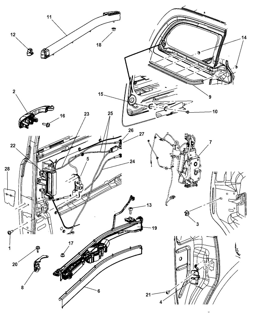 2001 Dodge Caravan Power Sliding Door Parts Diagram Manual Guide