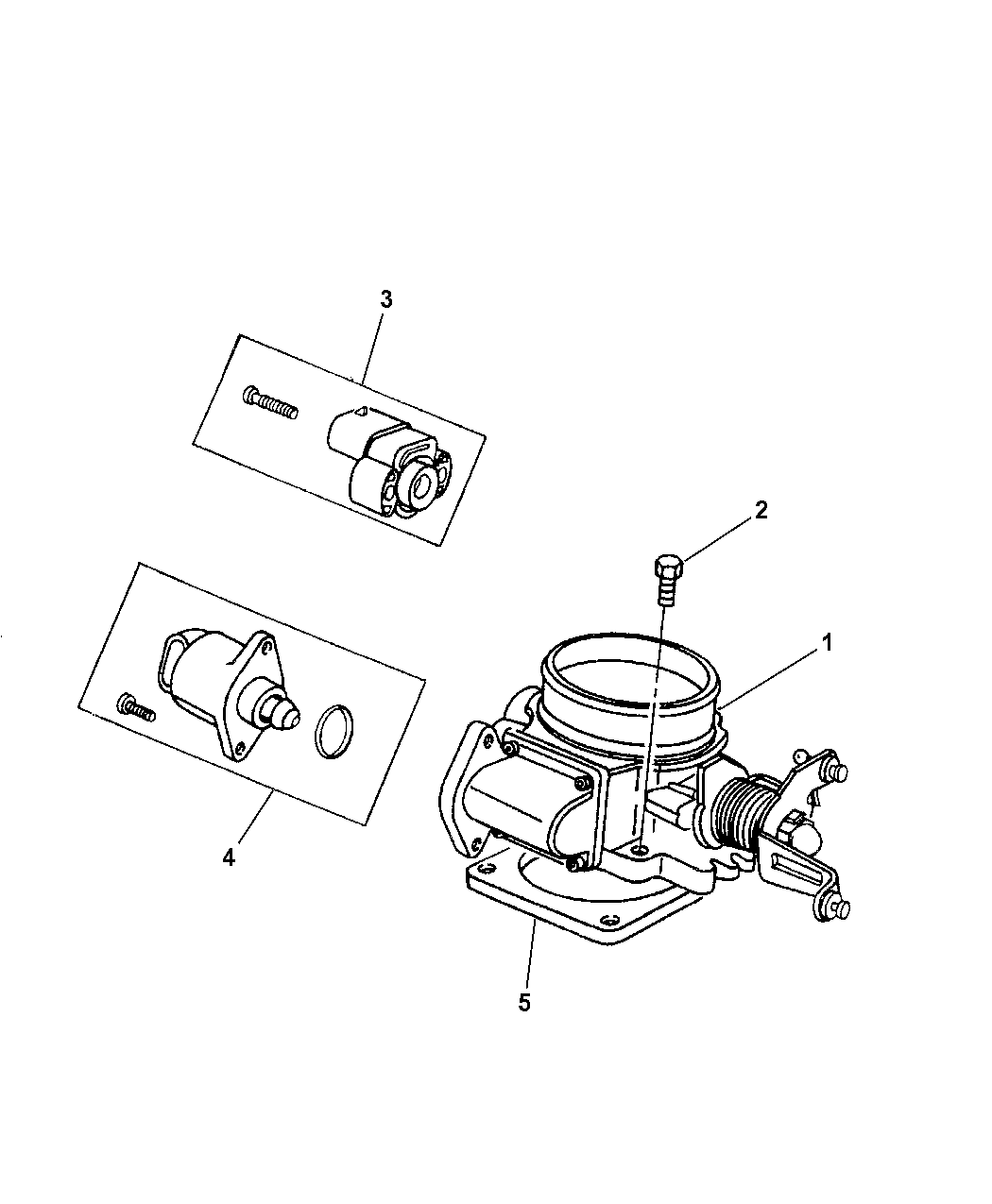1997 Jeep Wrangler Throttle Body - Mopar Parts Giant