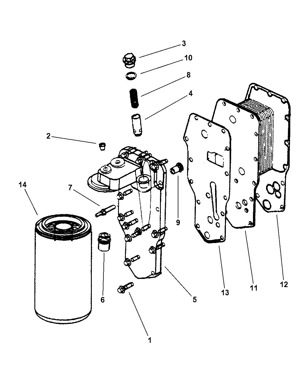 5016547aa Genuine Mopar Filter Engine Oil