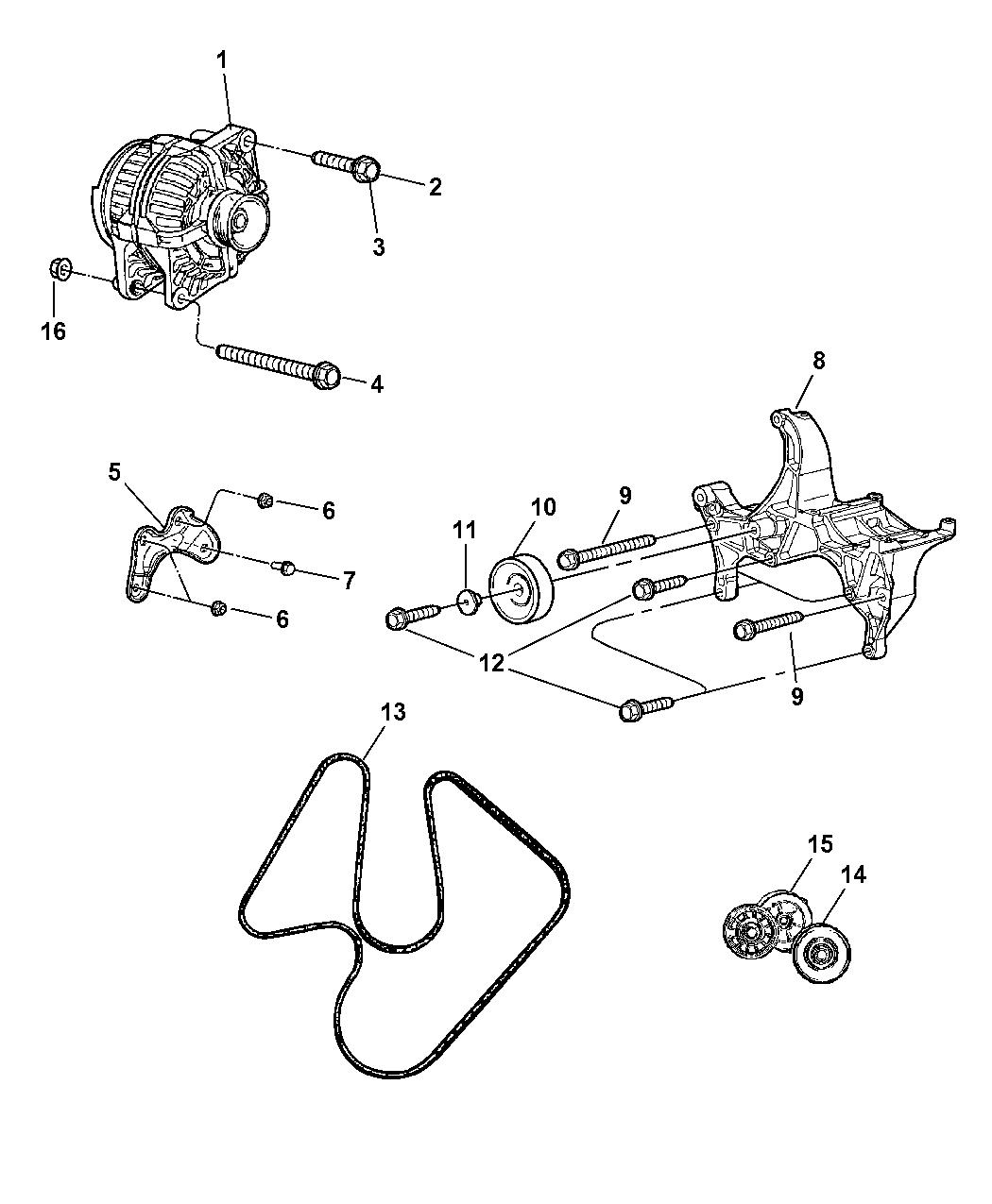 2007 Dodge Ram 1500 Serpentine Belt Routing Diagram Fixya