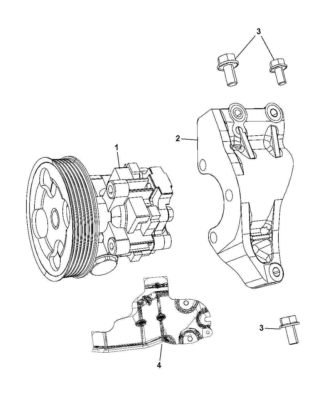 R8081999AC Genuine Dodge PUMP POWER STEERING